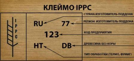 Клеймо по стандарту IPPC